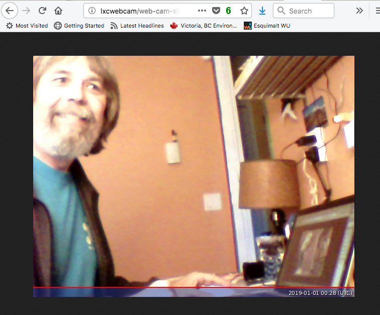 Python webserver and webcam